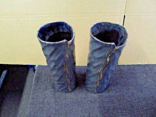 2 GILDE Moderne Vasen 31 cm x 10 cm NEU