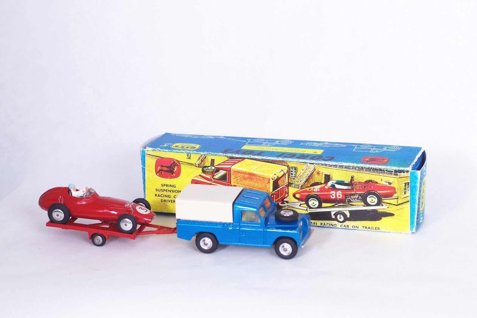 CORGI toys  Land rover & B.R.M FORMULE 1  poison set  code 3