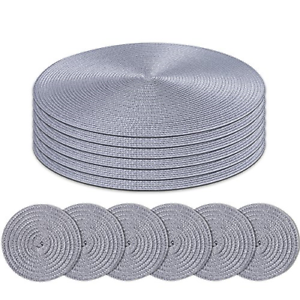 Homcomoda-Round-Placemats-and-Coasters-Set-of-6-Braided-Woven-Table-Place-Mats