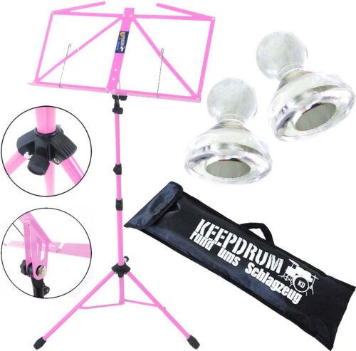 Tasche keepdrum MUS3PK Notenstaender Pink 2 Magnete