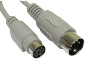 PS-2-PS2-6-Pin-Mini-Din-Female-to-5-Din-Male-AT-KEYBOARD-Adaptor-with-15cm-Cable