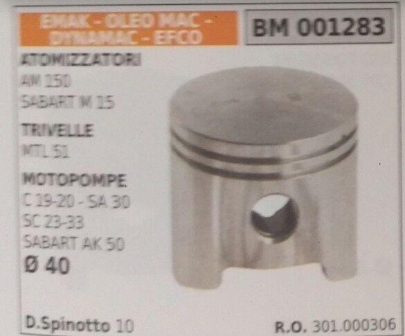 301000306 PISTÓN COMPLETO MOTOBOMBA EMAK OLEOMAC EFCO SABART AK 50 D.40