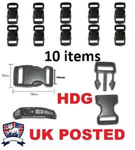 10X-3-8-034-10mm-QUICK-BUCKLE-CLIP-CONTOURED-PARACORD-BRACELET-RUCKSACK-WEBBING