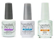 Gelish Gel LED Foundation Base + Top It Off Coat +pH Bond 15 mL Polish FREE SHIP