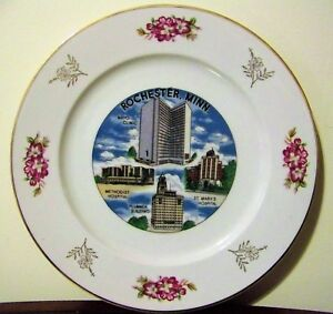 Details about Rochester Minnesota Souvenir Plate VTG Mayo Clinic Plummer  Building St  Mary's