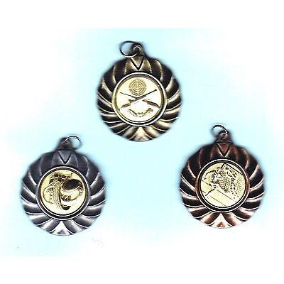 50 Medaillen gold #660 mit Band + Emblem (Sport Sieger Turnier Pokal Medaille)