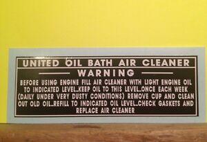 United-Oil-Bath-B-amp-S-Briggs-engine-decal-WWII-engine-43