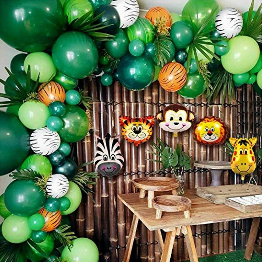 Baby Shower 102 Balloons Decorations For Boy Jungle Safari Animals Party Theme For Sale Online Ebay
