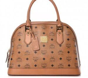 Details About Mcm Visetos Heritage Bowler Bag Cognac