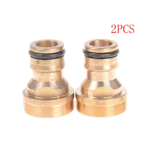 2Pcs Threaded Hose Water Pipe Connector Snap Adaptor Fitting Garden OutdoorRASK