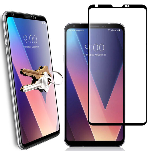 For LG V30 / V30 Plus Scratch-Resistant Tempered Glass Screen Protector-Black
