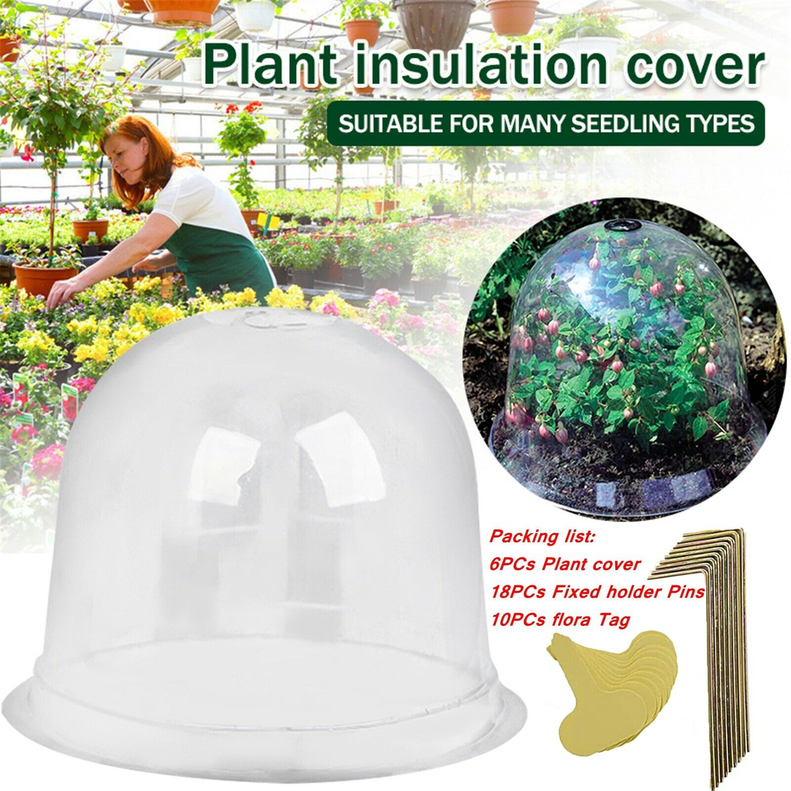 Tag Mini Greenhouse Dome Plant Bell Plant Guard Cover Plant Bell Protector