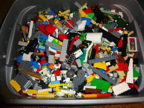 LEGO Bulk Lot of 8 Pounds Bricks Parts and Pieces Clean Genuine 8 Lbs Grab Box