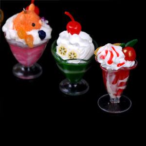 Juguete-en-miniatura-Casa-de-Munecas-4-Cuencos-de-Gelatina-de-Helado-de-Frutas