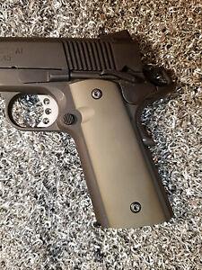 1911 Custom Colt Kimber Sa Plain Aluminum Magwell Grips Fde Ebay