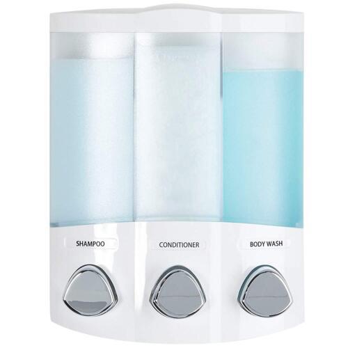 New Soap Shower Dispenser 3 Chamber Refillable Trio Wall Mount by Better Living