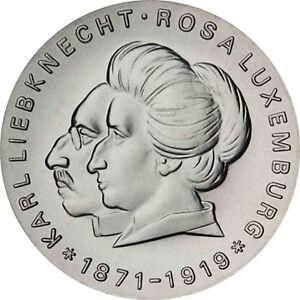 DDR-20-Mark-Silber-1971-Stgl-Karl-Liebknecht-und-Rosa-Luxemburg-in-Muenzkapsel