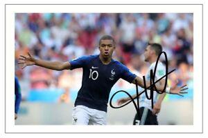 huge discount a903e a27da Details about KYLIAN MBAPPE FRANCE WORLD CUP 2018 SOCCER SIGNED AUTOGRAPH  PHOTO PRINT