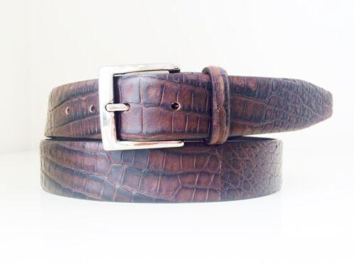 Genuine REAL CROCODILE alligator skin belt brown leather new 40 42 44