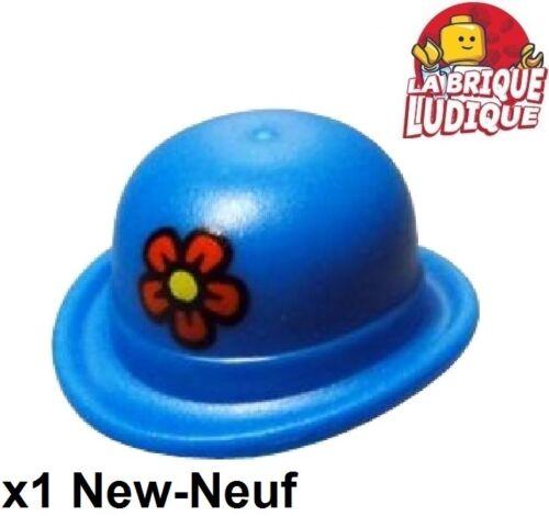 Baukästen & Konstruktion 1x Kopfbedeckungen Hut Bowler flower Blume clown blau/blau 95674pb01 NEW LEGO Bau- & Konstruktionsspielzeug Lego