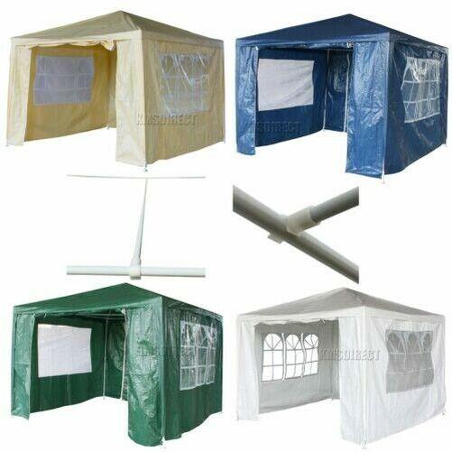 New 3 x 3m 120g Waterproof Outdoor PE Garden Gazebo Marquee Canopy Party Tent