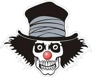 Clown-Skull-Decal-Bumper-Sticker