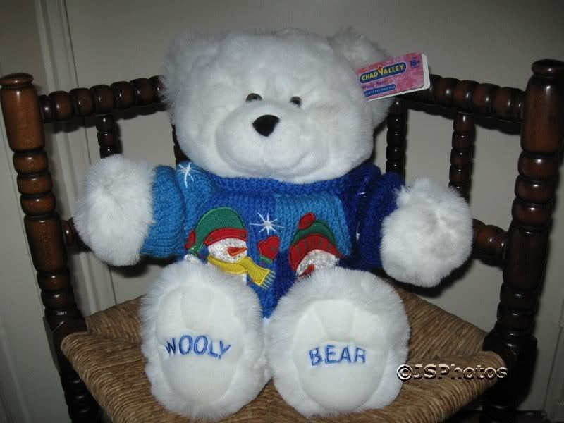 Chad Valley Inch Wooly Teddy Bear in Snowman Sweater