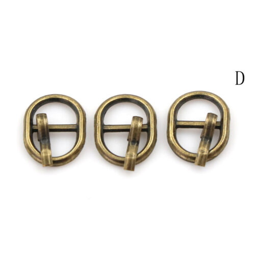 3Pcs4.5mm Diy buckle shoes accessories mini belt buckle for   doll YN