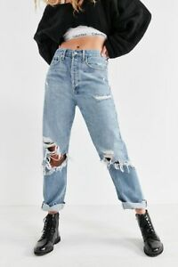 098f243b8bf1a6 NEW UO AGOLDE '90s fit midrise loose fit jeans DISTRESSED RIPPED SZ ...