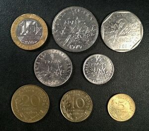 France-Coin-Lot-Full-Set-of-Pre-Euro-French-Coins-Free-Shipping