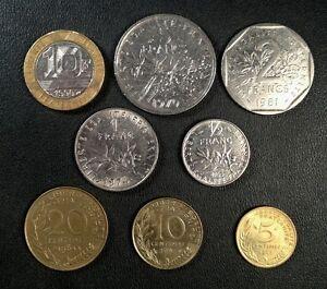 Frankreich Münzen Lot Komplettes Set Vor Euro Französische Münzen