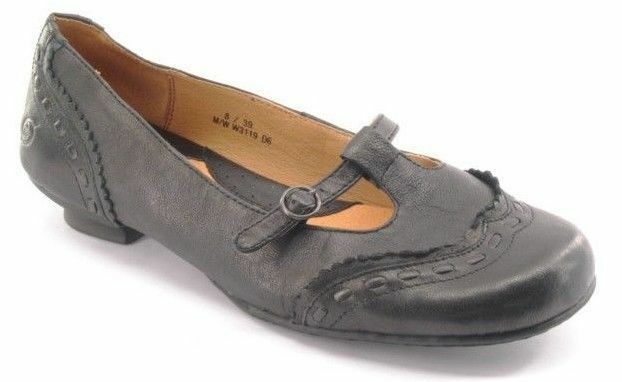 New BORN Damens Leder Kitten Heel Mary Jane Slip On Sz Dress Flat Pump Schuhe Sz On 8 M db0dcb