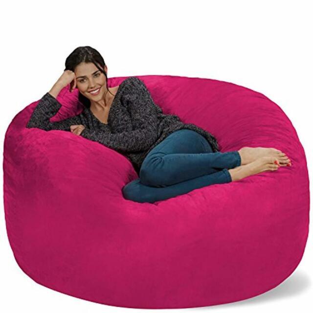 Pleasant Chill Sack Bean Bag Chair Giant 5 Memory Foam Furniture Bean Bag Big Sofa Wi Evergreenethics Interior Chair Design Evergreenethicsorg