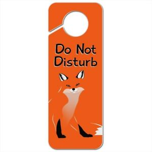 Stylish Red Foxy Fox Plastic Door Knob Hanger Sign