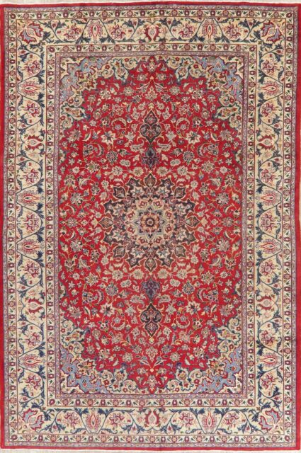 Traditional Floral Hand Knotted Wool Area Rug Home Decor Carpet 7 X 10 Clearance