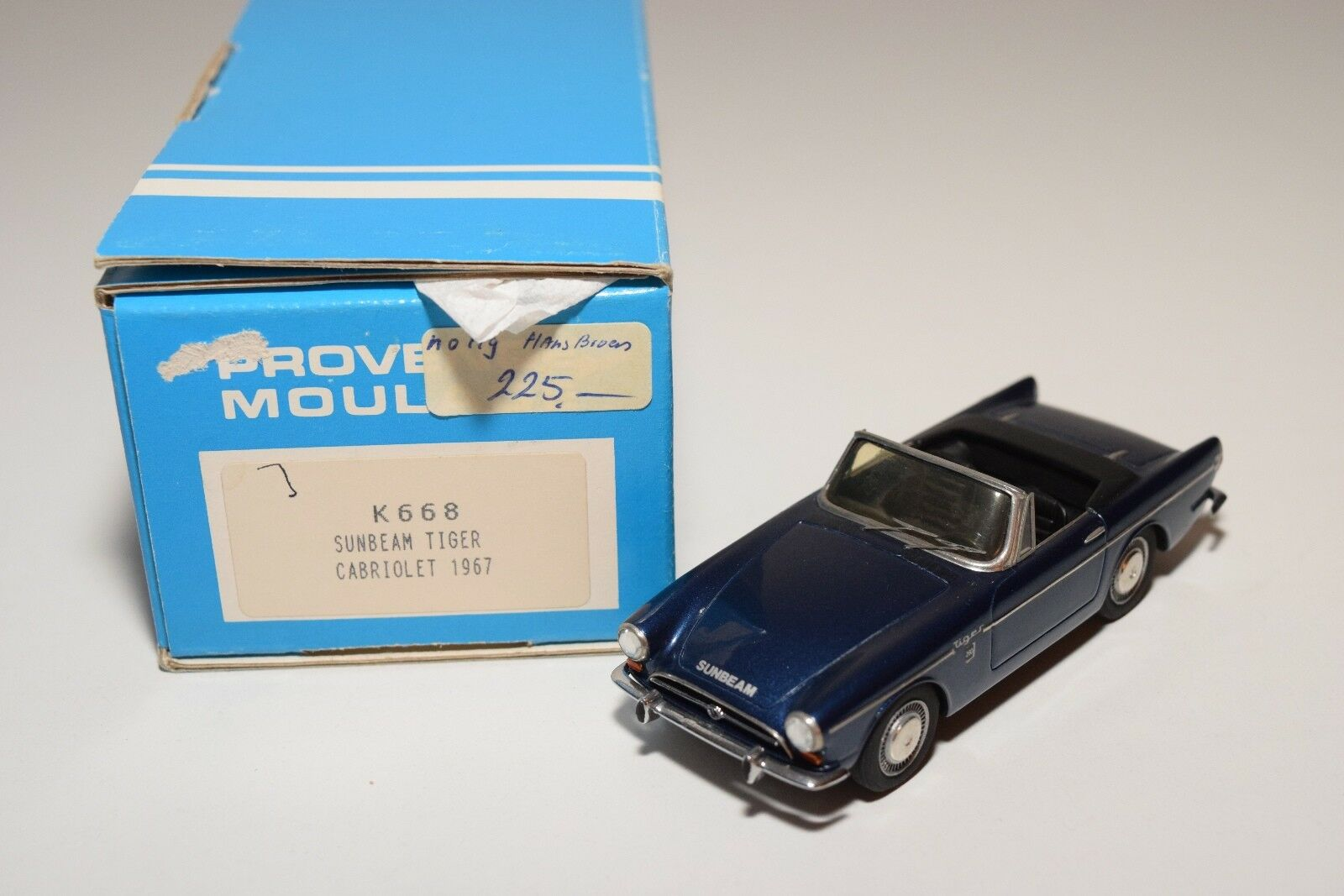 PROVENCE MOULAGE K668 SUNBEAM TIGER CABRIOLET 2018 METALLIC Azul MINT BOXED
