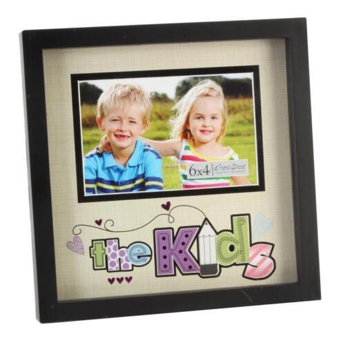 """Les enfants 6 /""""x 4/"""" nouvelle vue cadre photo noir mount cadres photos idée cadeau"""