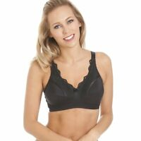 Royce Lingerie Womens Ladies Black Non Wired Mastectomy Pocketed Bra