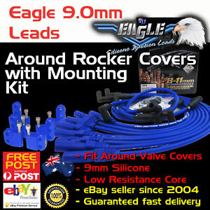 Eagle-9mm-Around-R-Cover-Ignition-Spark-Plug-Leads-Fits-HEI-Cleveland-Mounts