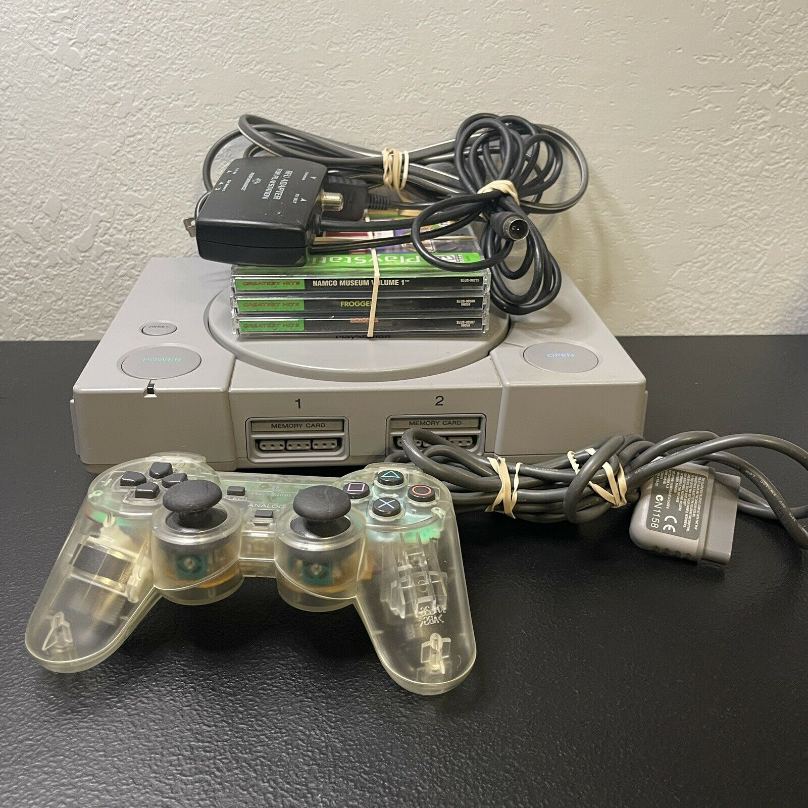 Sony PlayStation 1  (SCPH-9001) PS1 Console Bundle 1 Controller 3 Games Tested on eBay thumbnail