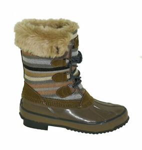 NEW-Womens-Khombu-Solis-Winter-Duck-Boot-Fossil-Choose-Size