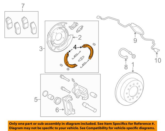 PARKING BRAKE NO.1 4653034010 Genuine Toyota SHOE ASSY RH//LH 46530-34010