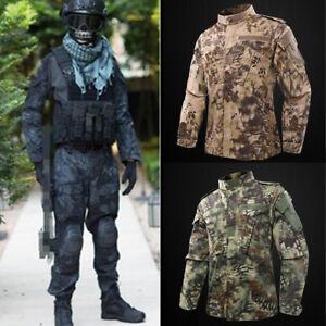 Mens-Tactical-Combat-Airsoft-Suit-Camo-Set-Jacket-Pants-Military-BDU-Uniform