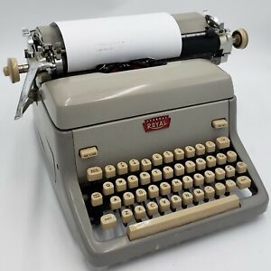 Vintage 1957 Grey Colored Model FP Portable Manual Royal Typewriter