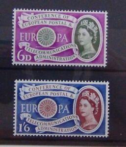 GRAN-BRETAGNA-1960-EUROPA-SERIE-Gomma-integra-non-linguellato