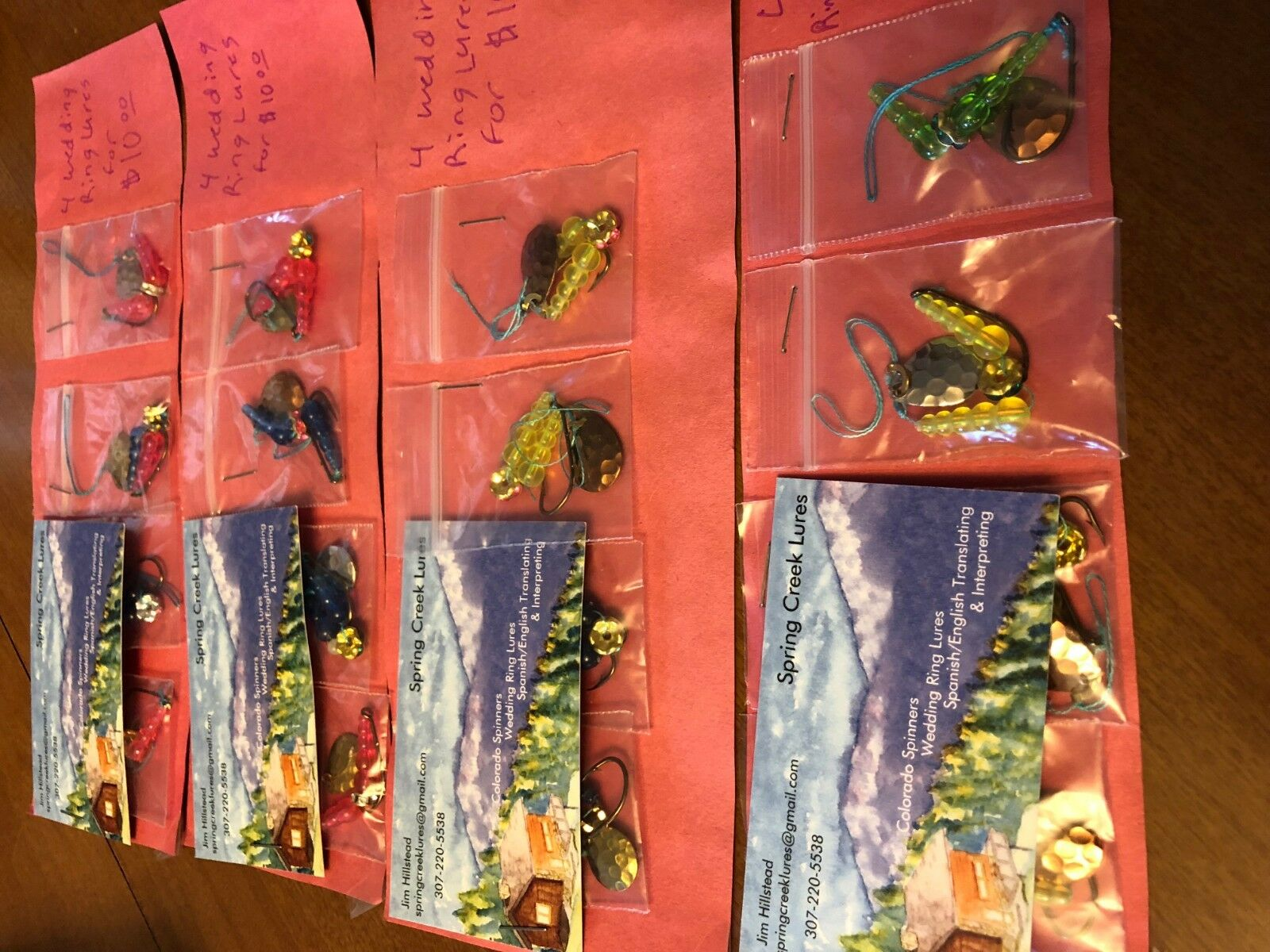 colorado Wedding Ring Lures.  16 (sixteen) Lures in total.  Sale.