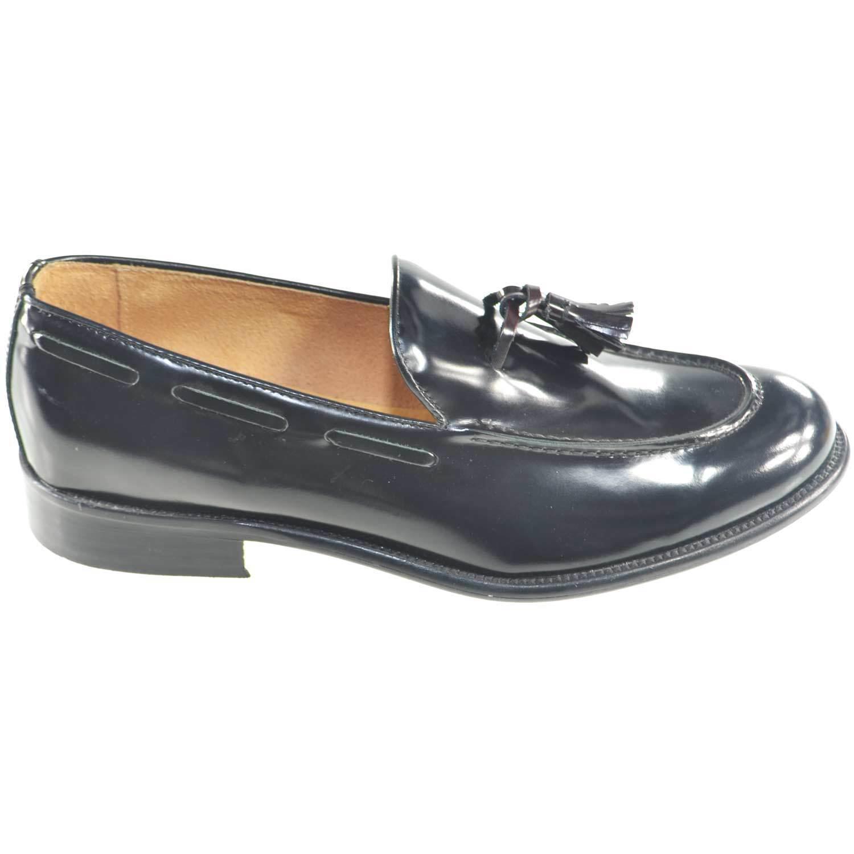 scarpe uomo bon mocassino moda maschile classico con campanelle bon bon uomo vera pelle a 25324b