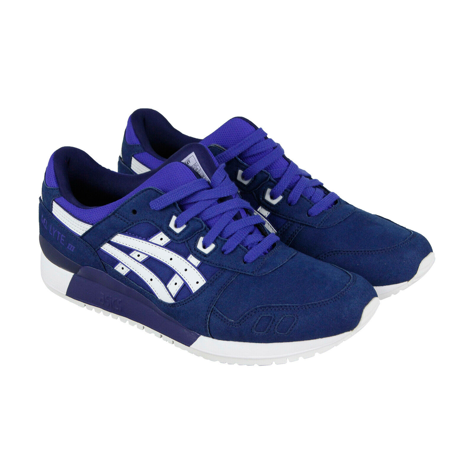 Asics Gel Lyte III Mens bluee Suede Athletic Lace Up Running shoes