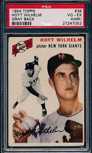1954-Topps-Baseball-36-Hoyt-Wilhelm-PSA-4-MK-Vg-Ex-Gray-Back-p02094
