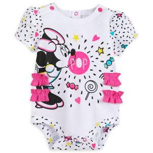 MiNNie MoUSe~CuDDlY~PiNk~BODYSUIT+CAP~NWT~0-24M~2yrs~Costume~Disney Store~Junior